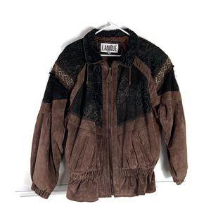 Vintage Lanique Suede Leather Oversized Jacket